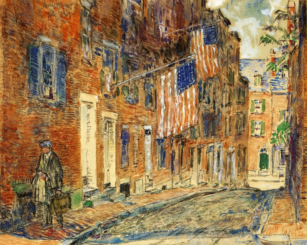 A corn Street, Boston, 1919, Childe Hassam
